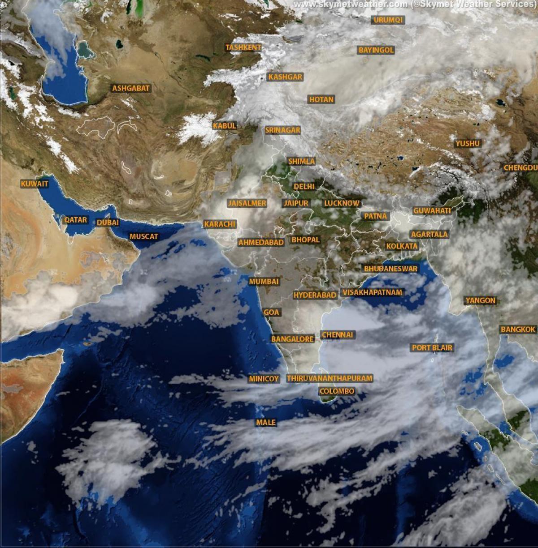 Indie Satelitarna Mapa Pogody Pogoda Mapa Satelitarna Indie